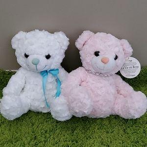 Teddy Plush Dolls Set